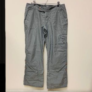 The NORTH FACE Gray Cargo Pants Convertible Rollup